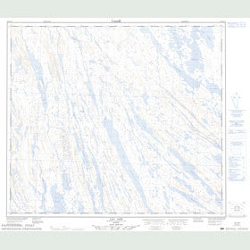 Canadian Topo Map - Lac Ahr - Map 023O10