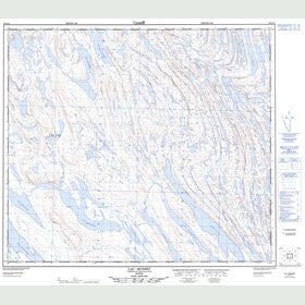 Canadian Topo Map - Lac Musset - Map 023O11