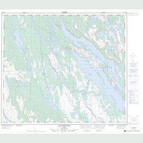 Canadian Topo Map - Lac Wakuach - Map 023O12