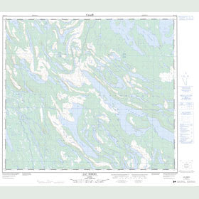 Canadian Topo Map - Lac Ribero - Map 023O13