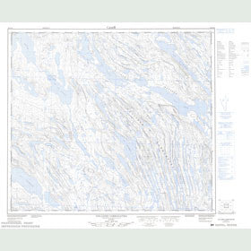 Canadian Topo Map - Collines Corrugated - Map 023O14