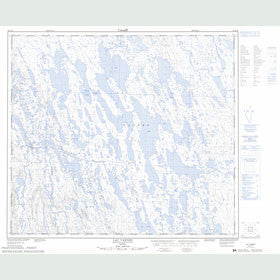 Canadian Topo Map - Lac Vannes - Map 023O15