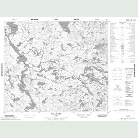 Canadian Topo Map - Lac Lacasse - Map 023P01