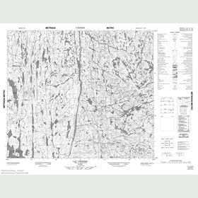 Canadian Topo Map - Lac Vreisnic - Map 023P03