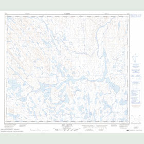 Canadian Topo Map - Lac Griffis - Map 023P04
