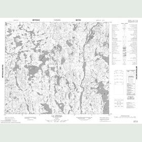 Canadian Topo Map - Lac Mortrel - Map 023P10