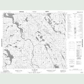 Canadian Topo Map - Lac McCabe - Map 023P12