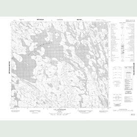 Canadian Topo Map - Lac Champdoré - Map 023P13
