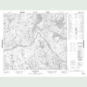 Canadian Topo Map - Lac Pallatin - Map 023P15