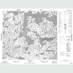Canadian Topo Map - Lac Bjarni - Map 023P16