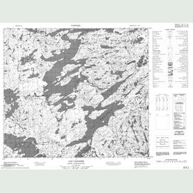 Canadian Topo Map - Lac Cananée - Map 024A01
