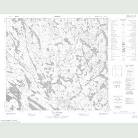 Canadian Topo Map - Lac Ythier - Map 024A05