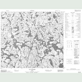 Canadian Topo Map - Lac Coiffier - Map 024A06
