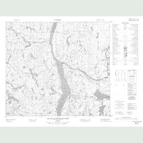 Canadian Topo Map - Lac de la Hutte Sauvage - Map 024A07