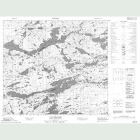 Canadian Topo Map - Lac Dihourse - Map 024A08