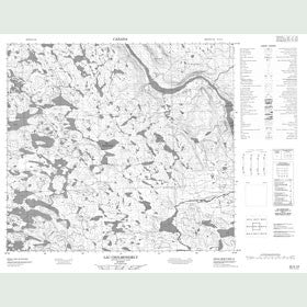 Canadian Topo Map - Lac Cholmondely - Map 024A14