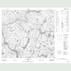 Canadian Topo Map - Lac Terriault - Map 024A15
