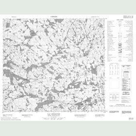 Canadian Topo Map - Lac Pennoyer - Map 024A16