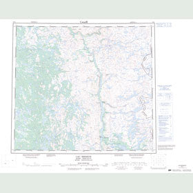 Canadian Topo Map - Lac Brisson - Map 024A