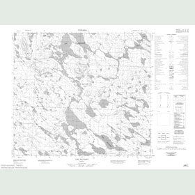 Canadian Topo Map - Lac Payant - Map 024B01