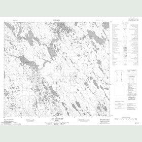 Canadian Topo Map - Lac Beaufort - Map 024B02