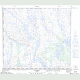 Canadian Topo Map - Lac Gachet - Map 024B03