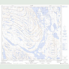 Canadian Topo Map - Lac Dunphy - Map 024B04