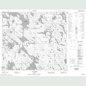 Canadian Topo Map - Lac Serre - Map 024B08