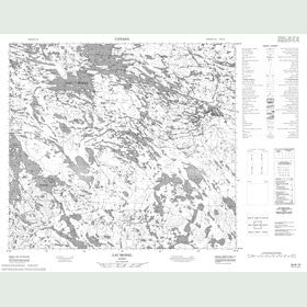 Canadian Topo Map - Lac Morel - Map 024B10