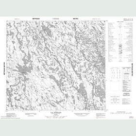 Canadian Topo Map - Lac Wheeler - Map 024B11