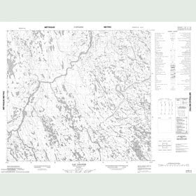 Canadian Topo Map - Lac Lhande - Map 024B14