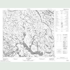 Canadian Topo Map - Lac Loquin - Map 024B15