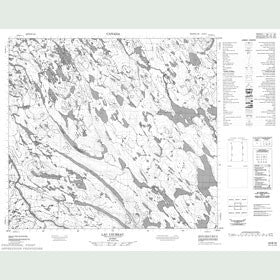 Canadian Topo Map - Lac Uzureau - Map 024B16