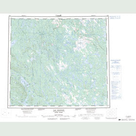 Canadian Topo Map - Lac Jeannin - Map 024B