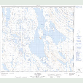 Canadian Topo Map - Lac Otelnuc - Map 024C01