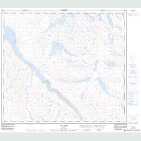 Canadian Topo Map - Lac Lace - Map 024C02
