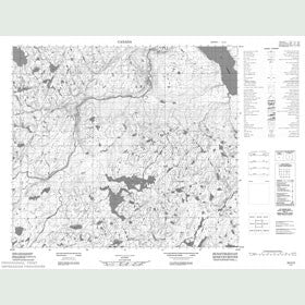 Canadian Topo Map - Lac Pien - Map 024C03