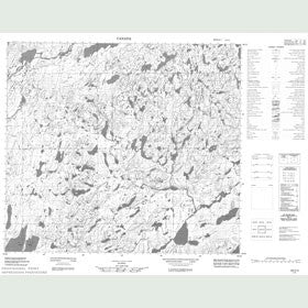 Canadian Topo Map - Lac Wawiyusi Anatwayach - Map 024C04