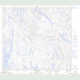 Canadian Topo Map - Lac Mistamisk - Map 024C08