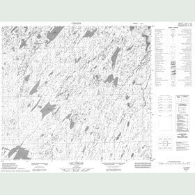 Canadian Topo Map - Lac Foran - Map 024D01