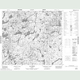 Canadian Topo Map - Lac Fremin - Map 024D03