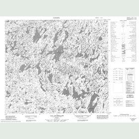 Canadian Topo Map - Lac Coursolles - Map 024D09