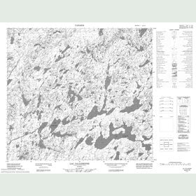 Canadian Topo Map - Lac Vallerenne - Map 024D10
