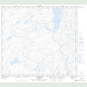 Canadian Topo Map - Lac Aigneau - Map 024E01
