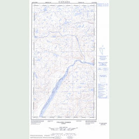 Canadian Topo Map - Colline Gossen - Map 024E09W
