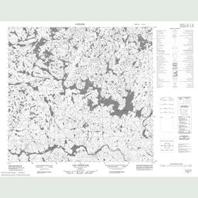 Canadian Topo Map - Lac Ikirtuuq - Map 024E11