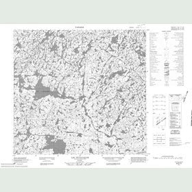 Canadian Topo Map - Lac Nullualuk - Map 024E15
