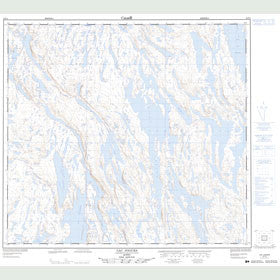 Canadian Topo Map - Lac Jogues - Map 024F02