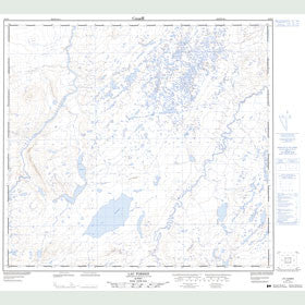 Canadian Topo Map - Lac Forbes - Map 024F05