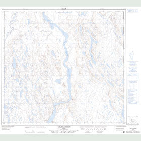 Canadian Topo Map - Lac du Canyon - Map 024F06